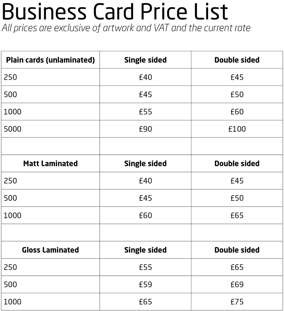 Autoprint - Business Cards